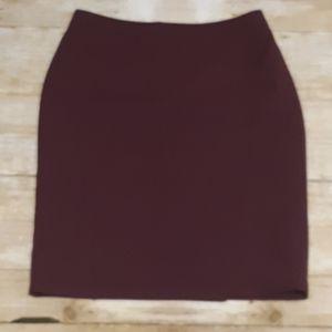 Liz Claiborne burgundy skirt size 14